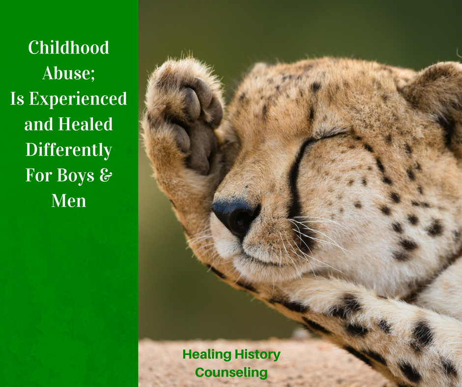 Childhood abuse is experience and healed differently for boys and men.