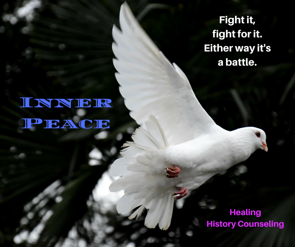 Inner Peace - Fight it, Fight for it... Either way is a battle.